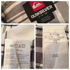 Quiksilver Shirts - Quicksilver Burnsfield Plaid Short Sleeve Shirt